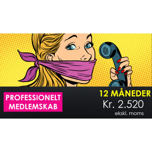 12 måneders professionelt medlemsskab kr. 2.520 ekskl. moms
