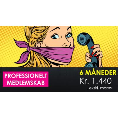 6 måneders professionelt medlemsskab kr. 1.440 ekskl. moms